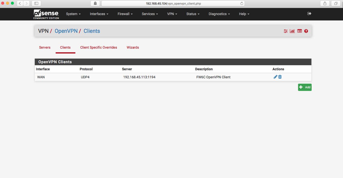 OpenVPN clients
