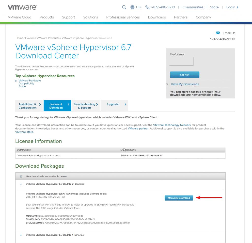 vmware register