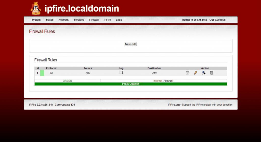 IPFire local domain