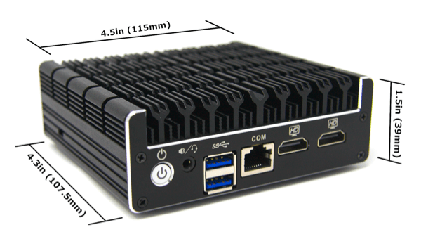 Protectli Firewall 2-Port dimensions