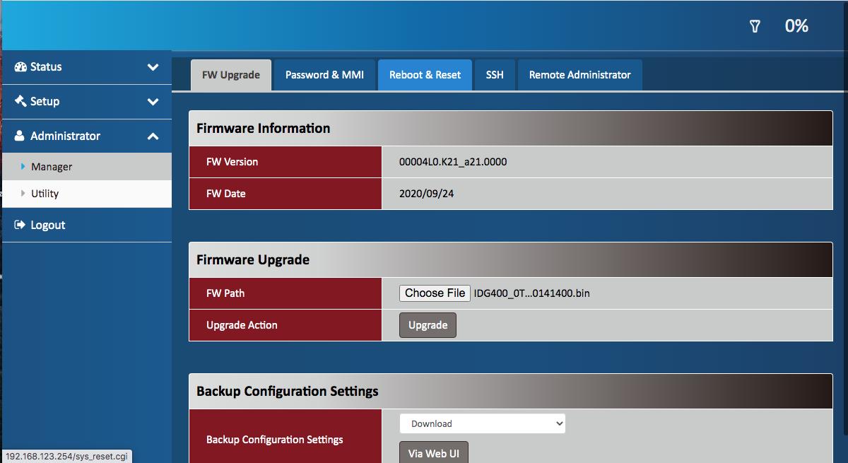 4G LTE FW File Upgrade
