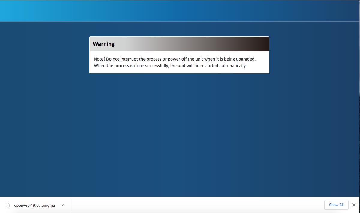 4G LTE FW Upgrade Warning