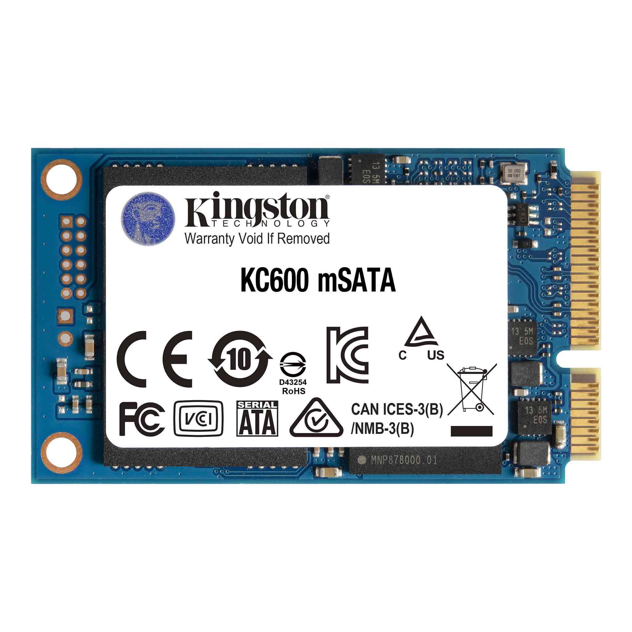 Kingston mSATA KC600 Module – 512GB