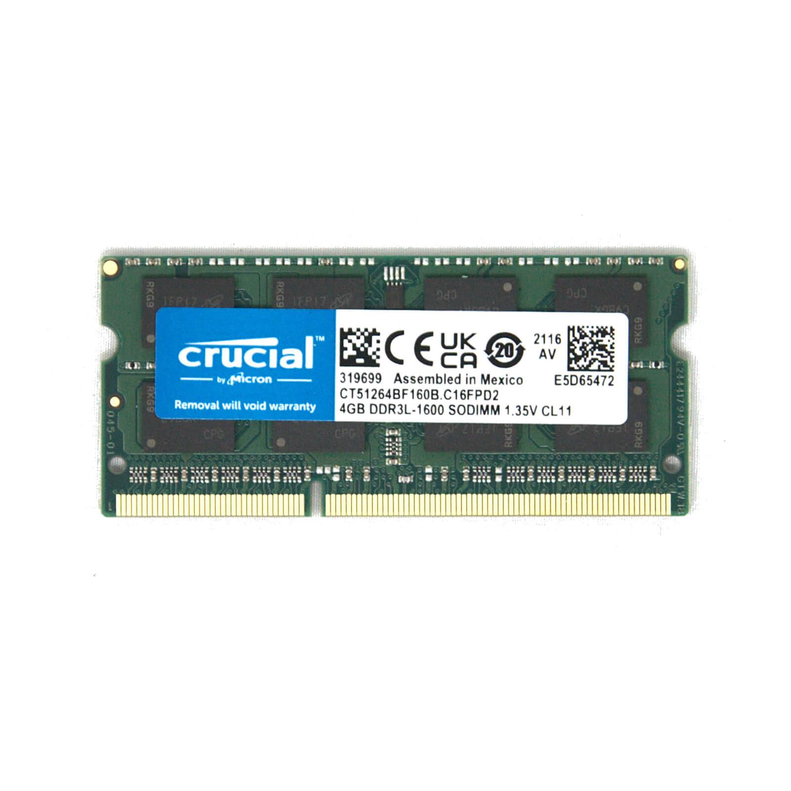 Crucial DDR3L SO-DIMM Memory Module – 4GB