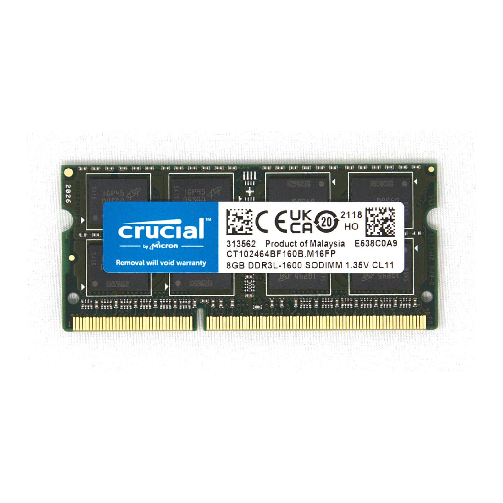 Crucial DDR3L SO-DIMM Memory Module – 8GB