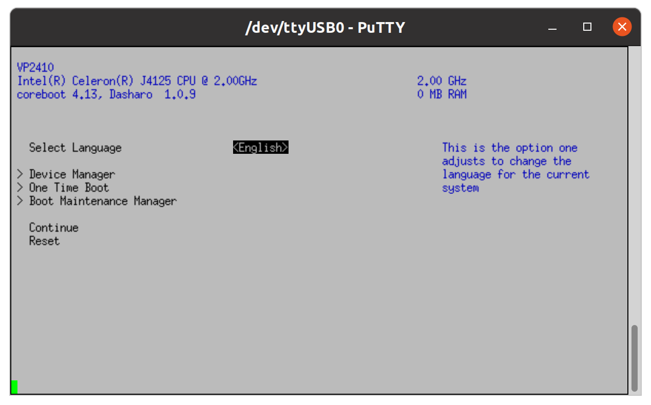 coreboot on the VP2410